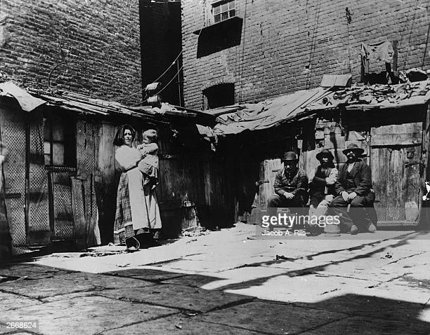 Italian immigrant families in New York on Jersey Street living in shacks