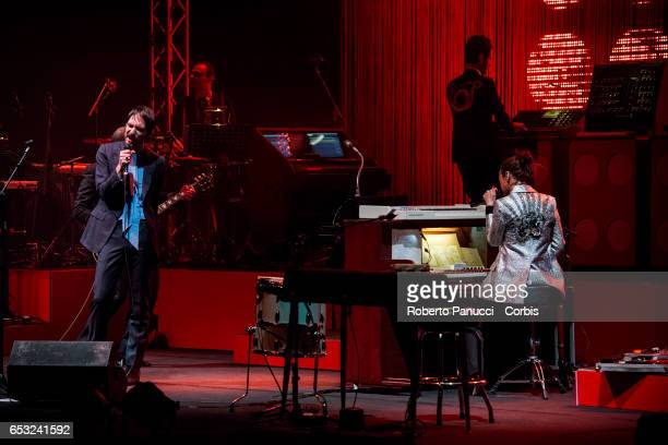 Italian Indie Rock group Baustelle performs in concert at Auditorium Parco della Musica on March 13 2017 in Rome Italy