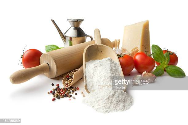 Italian Ingredients: Flour, Tomato, Garlic, Pepper, Parmesan, Basil and OliveOil