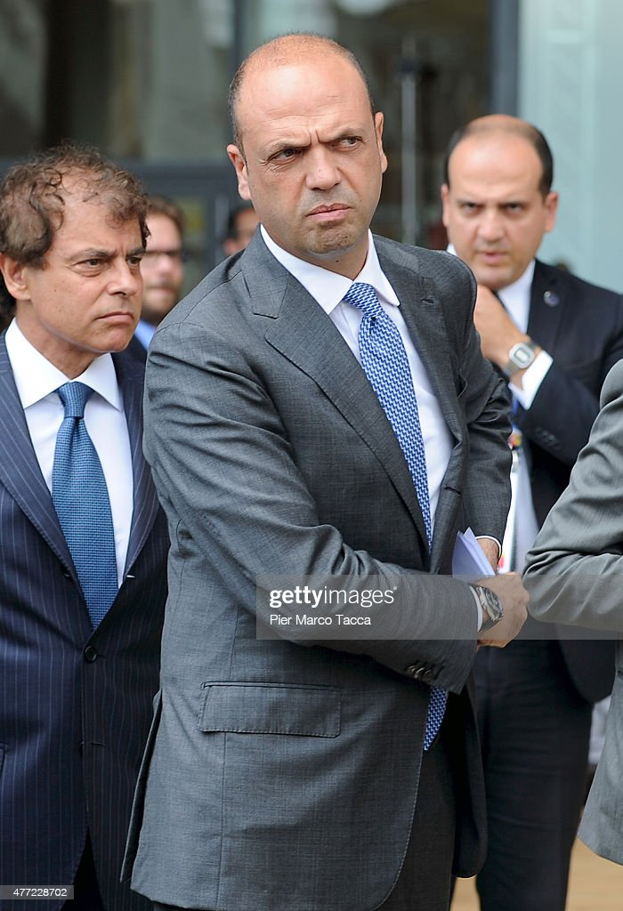 Italian Interior Minister Angelino Alfano attends the opening ceremony of the National Day of Spain at the Expo 2015 on June 15 2015 in Milan Italy