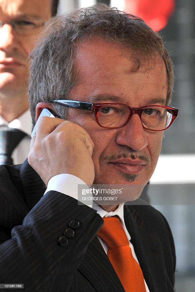 Italian Interior Minister Roberto Maroni arrives at a Justice and Home Affairs council meeting on June 3, 2010 at the EU Council building in Luxembourg.