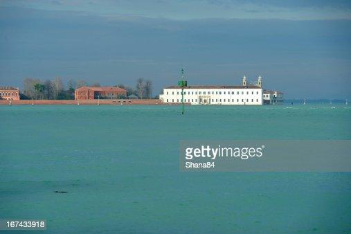 Isla San Servolo italiano : Foto de stock