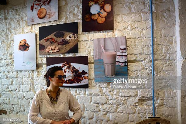 Italian jewelry designer Mirella Fiore at Sweetish House Mafia a dessert cafe in Bandra on June 17 2016 in Mumbai India