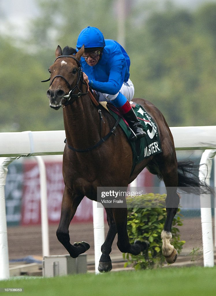 Italian jockey Frankie Dettori riding Mastery wins the Cathay Pacific Hong Kong Vase during the Cathay Pacific International Races at the Sha Tin...
