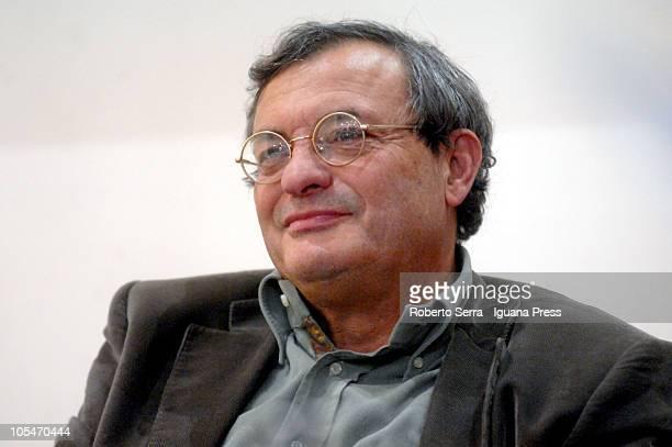 Italian journalist and author Oliviero Beha presents his latest book 'Dopo di Lui il Diluvio' at Coop Ambasciatori Bookshop on October 14 2010 in...