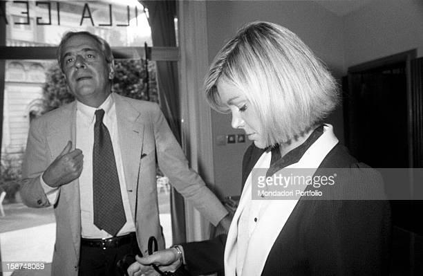 Italian journalist Enzo Bettiza attending 7th National Friendship Day Fiuggi September 1983