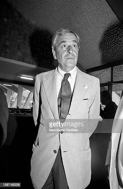 Italian journalist Enzo Bettiza attending the 7th National Friendship Day Fiuggi September 1983