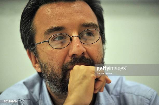 Italian journalist Marco Damilano attends the presentation of new book of former Secretary of the Democratic Party Walter Veltroni 'E se noi domani'...