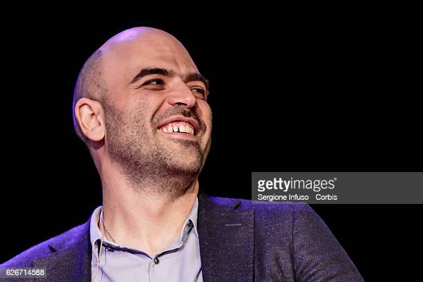 Italian journalist writer and essayist Roberto Saviano Meets The Audience with the show 'Sottosopra' on November 28 2016 in Milan Italy