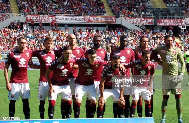 Italian League Serie A TIM 20172018 / 'r Team Group From left up 'rAndrea Belotti Adam Ljajic Lorenzo De Silvestri Nicolas N'Koulou M'Baye Niang...