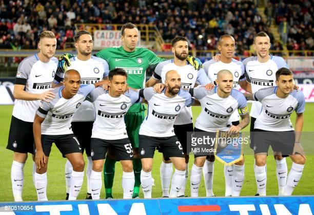 Italian League Serie A TIM 20172018 / 'r Team Group From the left up 'rMilan Skriniar Danilo D'Ambrosio Samir Handanovic Antonio Candreva Joao...