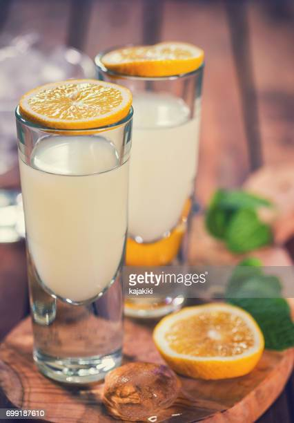 Italian Limoncello,Traditional Liqueur With Lemons