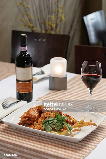 イタリア料理の昼食
