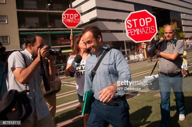 Italian man Francesco Arcuri leaves the court of Granada after declaring before the judge on August 8 2017 Arcuri the expartner of Spanish woman...