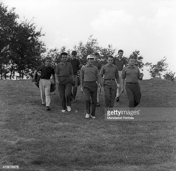 'Italian manager and amateur golf player Alberto Schiaffino and Italian university students and amateur golf players Carlo Bordogna Lorenzo Silva and...
