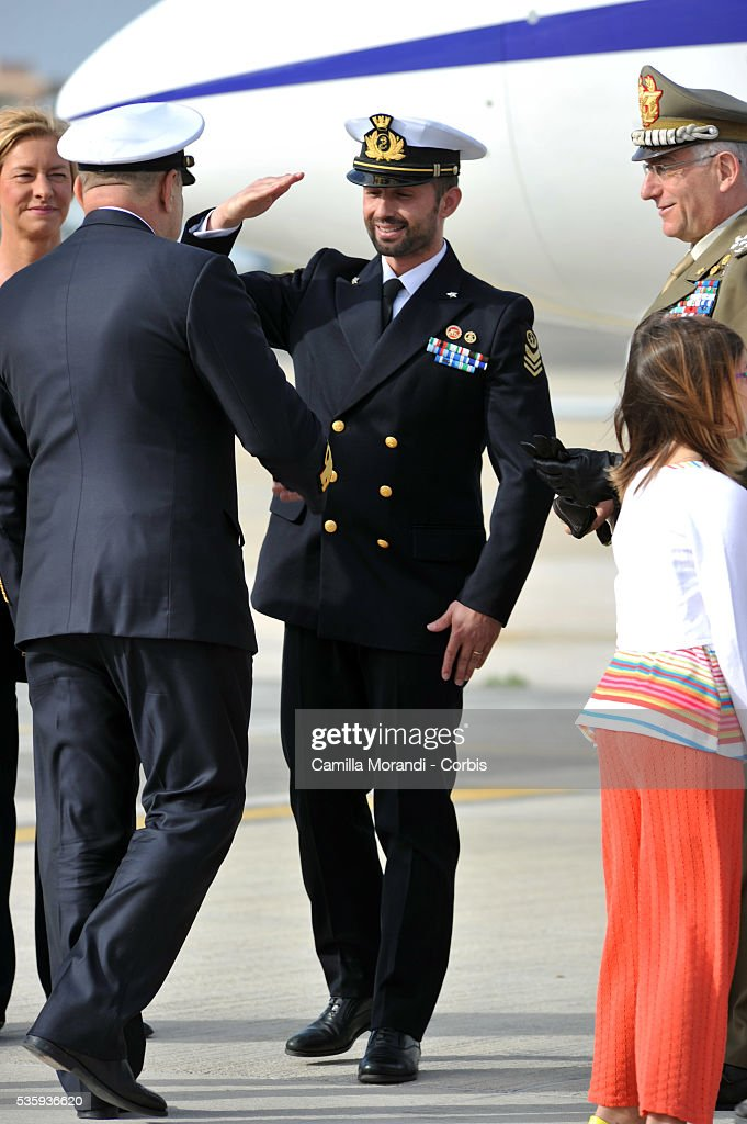 Italian Marine Salvatore Girone Returns To Italy May 28 2016 in Rome, Italy