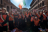 ITA: Farmers Demo In Rome