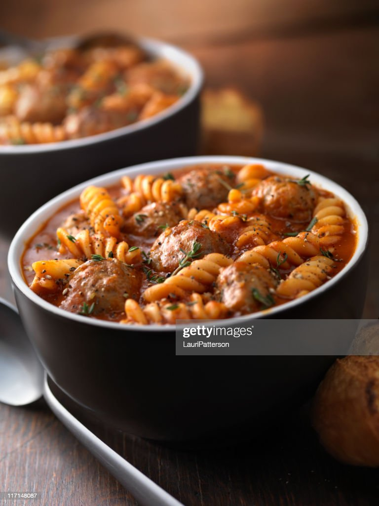 Italian Meatball Soup : Stock Photo