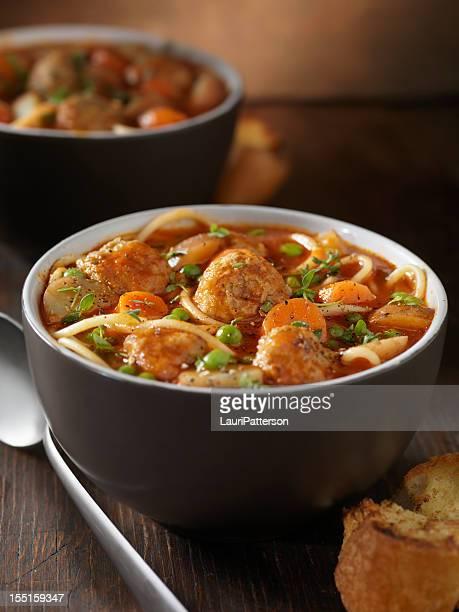 イタリアンミートボールのスープ