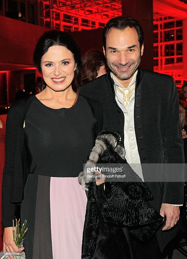 Italian mezzo-soprano Anna Caterina Antonacci (L) and Austrian tenor Nikolai Schukoff attend the Arop Gala event for Carmen new production launch at Opera Bastille on December 13, 2012 in Paris, France.