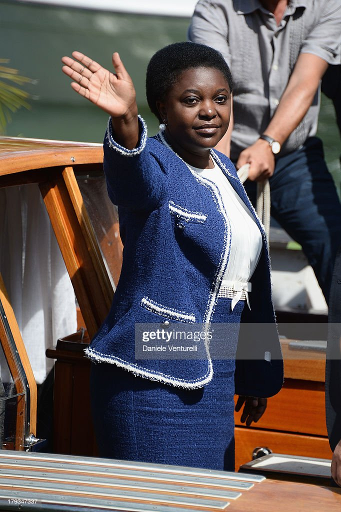 Italian minister <a gi-track='captionPersonalityLinkClicked' href=/galleries/search?phrase=C%C3%A9cile+Kyenge&family=editorial&specificpeople=10908084 ng-click='$event.stopPropagation()'>Cécile Kyenge</a> is seen during the 70th Venice International Film Festival on September 2, 2013 in Venice, Italy.