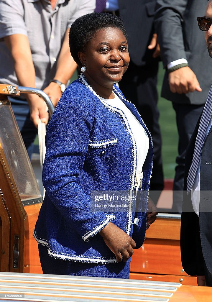Italian minister Cecile Kyenge attends day 6 of the 70th Venice International Film Festival on September 2, 2013 in Venice, Italy.