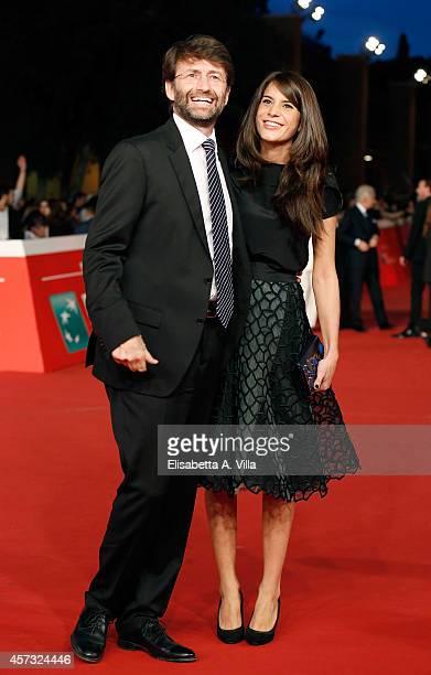 Italian minister Dario Franceschini and Michela Di Biase attend the Rome Film Festival Opening and 'Soap Opera' Red Carpet during the 9th Rome Film...