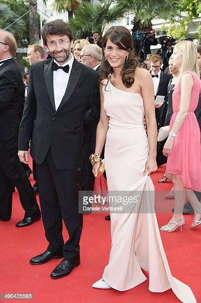 Italian minister Dario Franceschini and Michela Di Biase attend the Opening Ceremony and the 'Grace of Monaco' premiere during the 67th Annual Cannes...