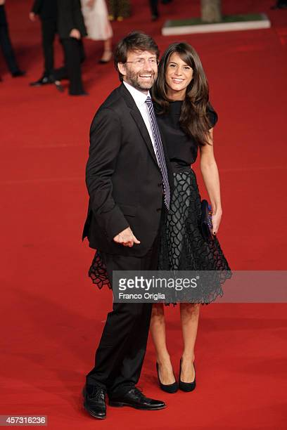 Italian Minister of Heritage Cultural Activity Dario Franceschini and wife Michela Di Biase attend the Rome Film Festival Opening and 'Soap Opera'...