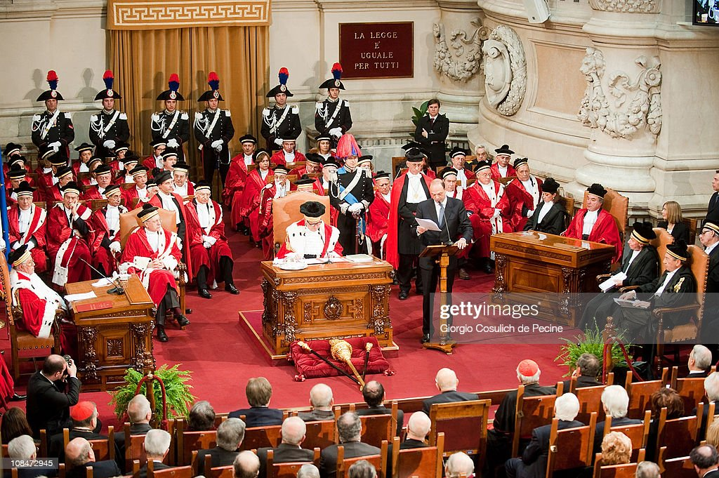 Opening Of The Judicial Year 2011 In Rome