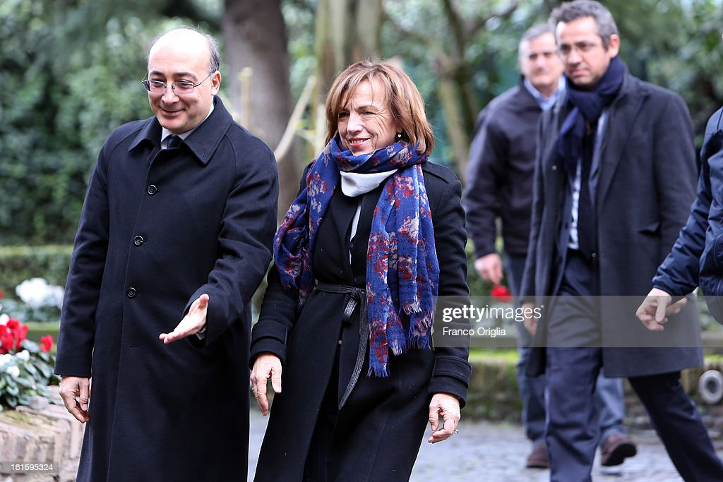 Italian Minister of Labor and Welfare <a gi-track='captionPersonalityLinkClicked' href=/galleries/search?phrase=Elsa+Fornero&family=editorial&specificpeople=8642721 ng-click='$event.stopPropagation()'>Elsa Fornero</a> (2nd L) arrives at Palazzo Borromeo for the celebration of the 84th anniversary of The Lateran Pacts on February 12, 2013 in Rome, Italy. Lateran Pacts of 1929 or Lateran Accords, is an agreement by which the Papacy regonized the state of Italy with Rome as the capitol and Italy reconized the Vatican as a soveriern state.