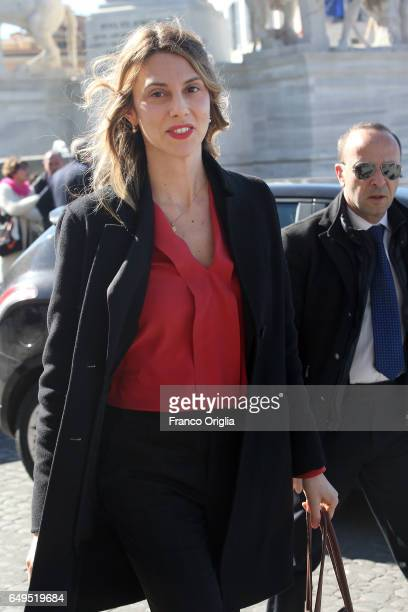 Italian Minister of Public Administration and Simplification Marianna Madia arrives at the International Women's Day Celebrations at Palazzo del...