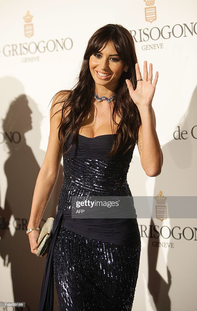 Italian model Elisabetta Gregoraci attends the Grisogono Party at the Hotel Eden Roc in Antibes during the 65th Cannes film festival on May 23, 2012. AFP PHOTO / JEAN CHRISTOPHE MAGNENET