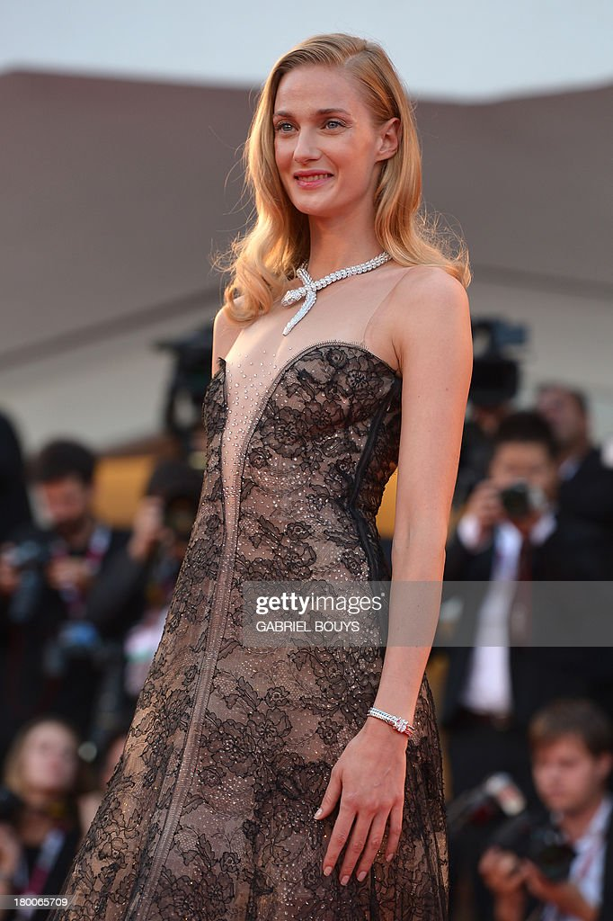 Italian model Eva Riccobono arrives for the award ceremony of the 70th Venice Film Festival on September 7, 2013 at Venice Lido. AFP PHOTO / GABRIEL BOUYS
