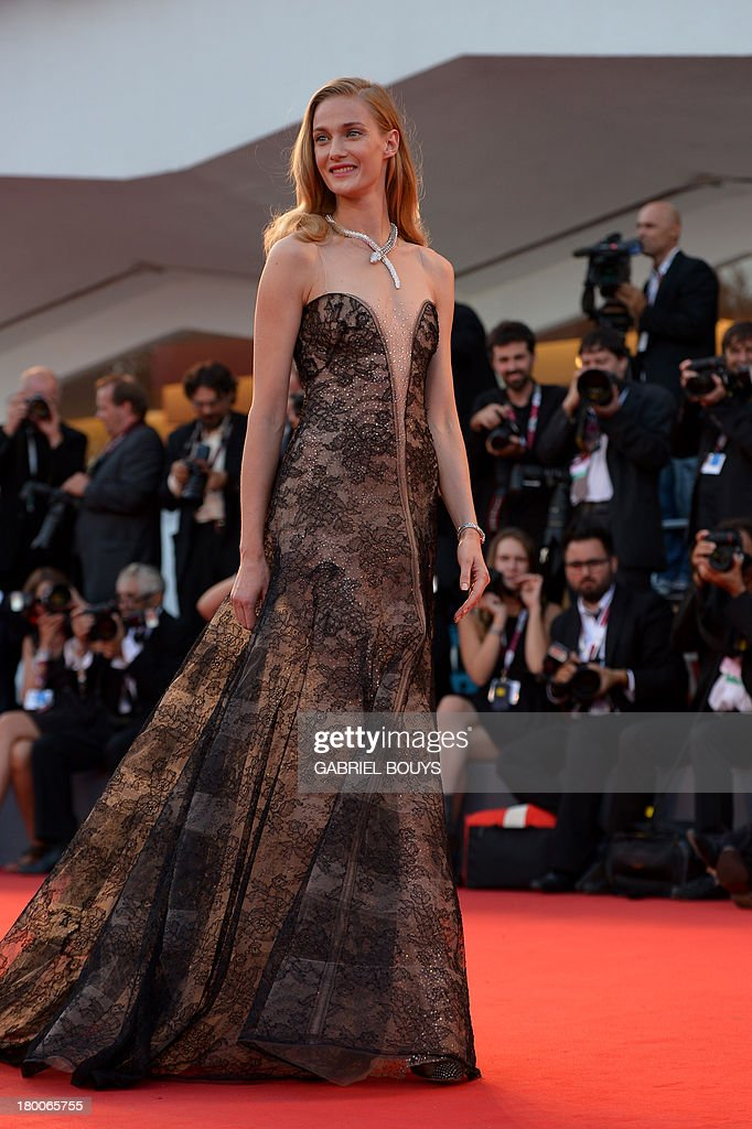 Italian model Eva Riccobono arrives for the award ceremony of the 70th Venice Film Festival on September 7, 2013 at Venice Lido.