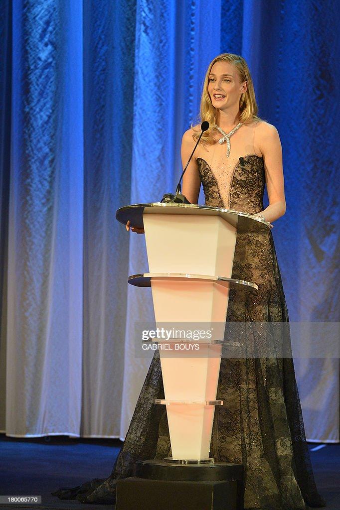 Italian model Eva Riccobono attends the award ceremony of the 70th Venice Film Festival on September 7, 2013 at Venice Lido.
