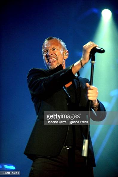 Italian musician and author Biagio Antonacci performs at Unipol Arena on May 16 2012 in Casalecchio di Reno Italy