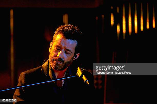 Italian musician and author Daniele Silvestri performs his 'SCOTCH' concert at Celebrazioni theater on April 26 2016 in Bologna Italy