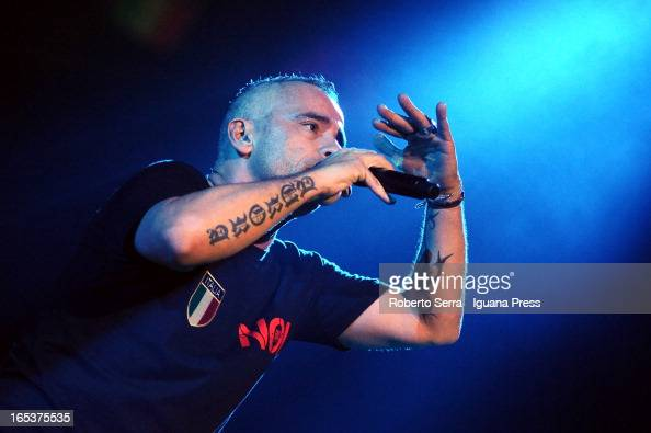 Italian musician and author Eros Ramazzotti performs at Unipol Arena on April 3 2013 in Bologna Italy