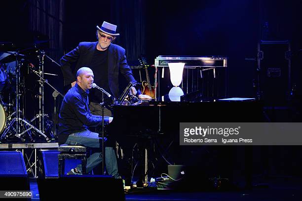 Italian musician and author Francesco De Gregori celebrate the 40th anniversary of his best record 'Rimmel' and actor Checco Zalone as guest in his...