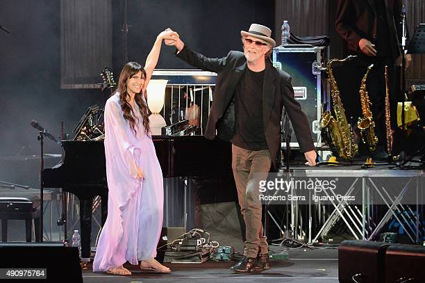 Italian musician and author Francesco De Gregori celebrate the 40th anniversary of his best record 'Rimmel' and popsinger Elisa as guest in his...