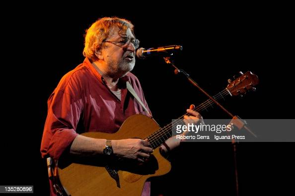 Italian musician and author Francesco Guccini performs at Unipol Arena on December 3 2011 in Bologna Italy