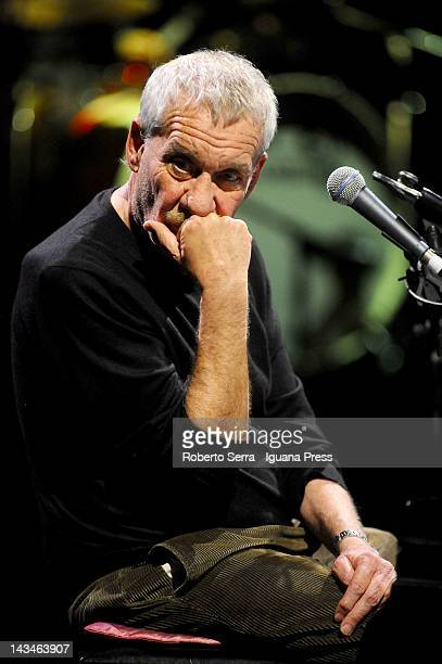 Italian musician and author Paolo Conte performs at Europauditorium on April 23 2012 in Bologna Italy
