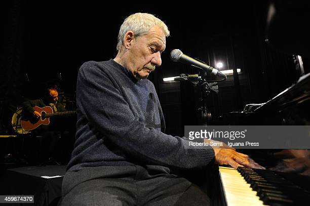 Italian musician and author Paolo Conte performs his concert 'Snob' at Europauditorium on October 30 2014 in Bologna Italy