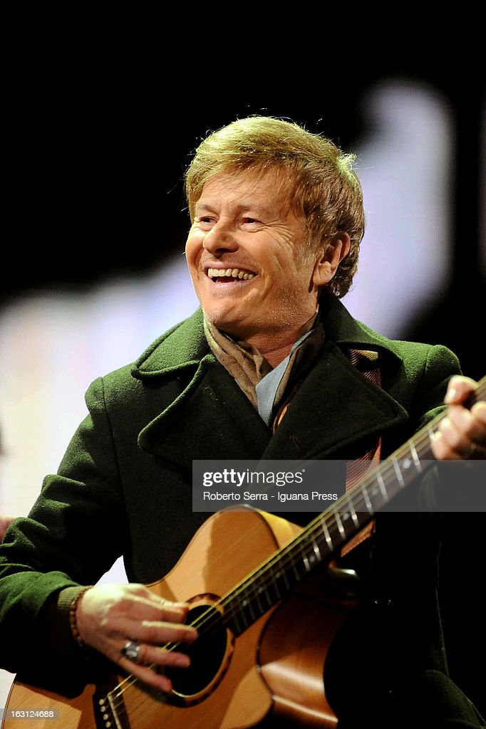 Italian musician and author Ron attends the Lucio Dalla Tribute concert at Piazza Maggiore on March 4, 2013 in Bologna, Italy.