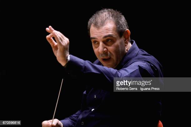 Italian musician Daniele Gatti conduces the rehearsal with the Mahler Chamber Orchestra before their concert for Bologna Festival at Auditorium...