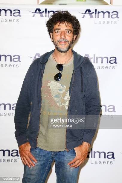 Italian musician Max Gazze attends the Alma Lasers Event at Centrale Del Tennis during the Tennis Internazionali BNL d'Italia 2017 on May 15 2017 in...