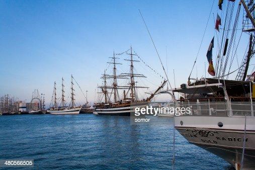 Italian Navy Ship, Amerigo Vespucci : Stock Photo