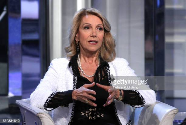 Italian Oncologist Patrizia Paterlini during the Rai TV show 'Porta a porta' on April 24 2017 in Rome Italy Marco Ravagli / Barcroft Images LondonT44...