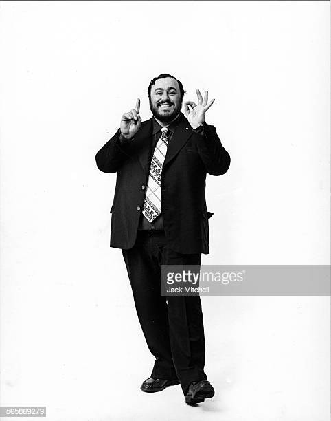 Italian operatic tenor Luciano Pavarotti 1976 Photo by Jack Mitchell/Getty Images